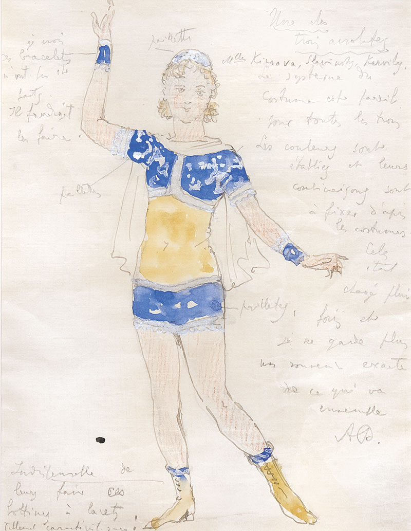 Acrobat. Costume design for a production of