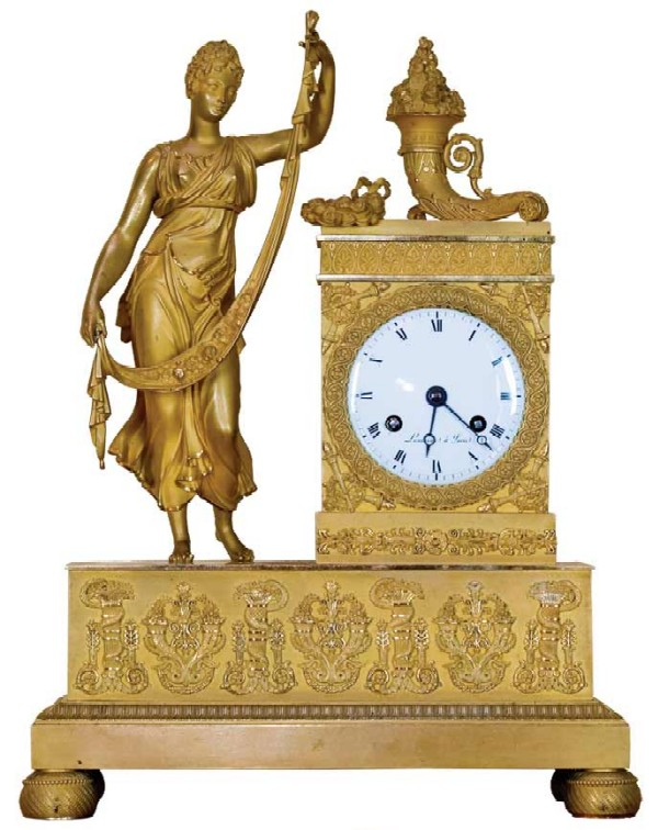 "Mantel clock ""Allegoric arrangement, representing fertility""."