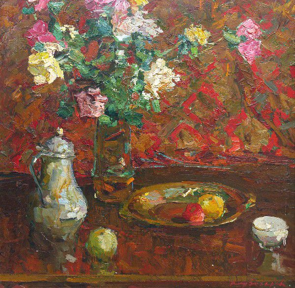 Still life with roses.