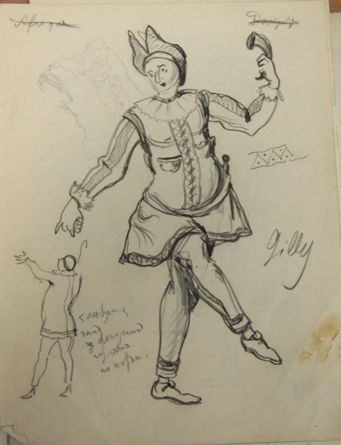 Costume design for the theater production of